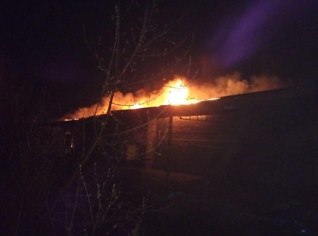 Пожарно-спасательные подразделения ликвидировали пожар в г. Вятские Поляны