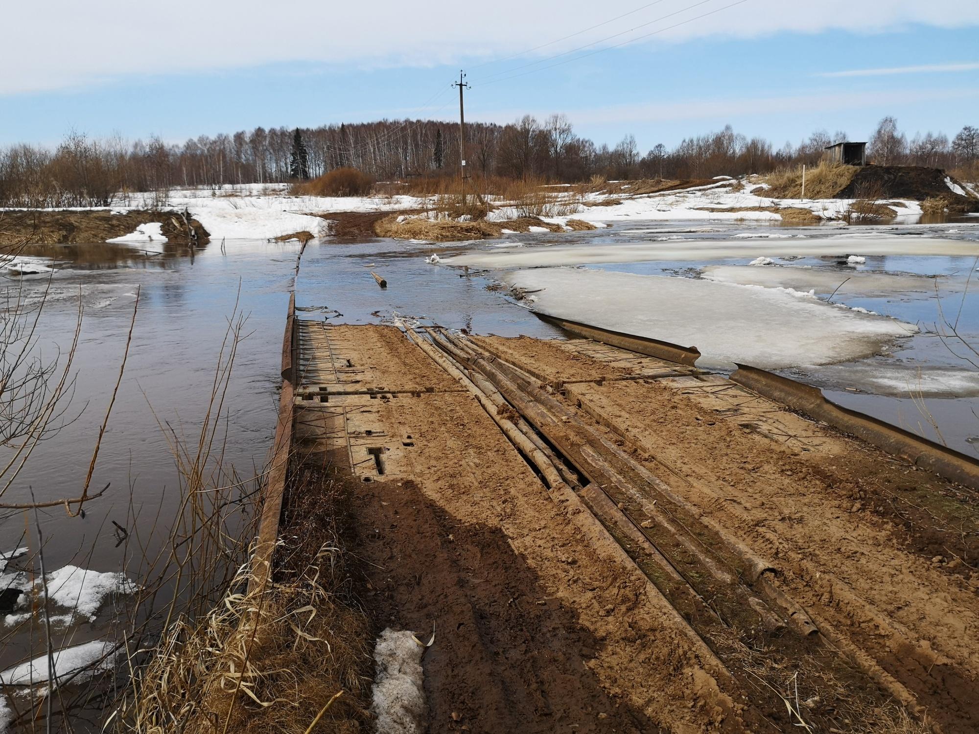 Подтопление низководного моста в Кикнурском районе
