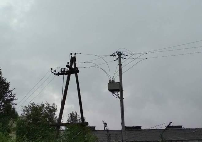 Нарушение электроснабжения в Вятскополянском районе